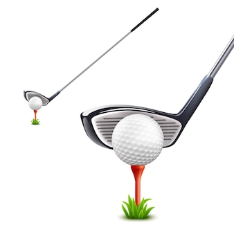 Realistisches golf-set