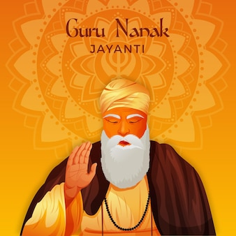 Realistisches guru nanak jayanti konzept