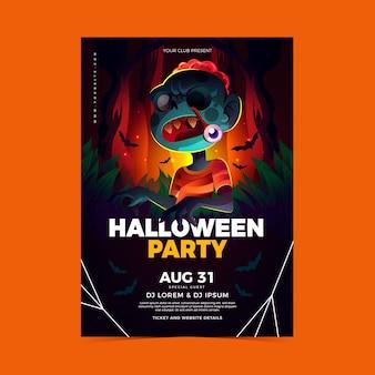 Realistisches halloween-partyplakat