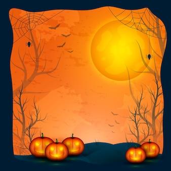 Realistisches halloween-rahmenkonzept