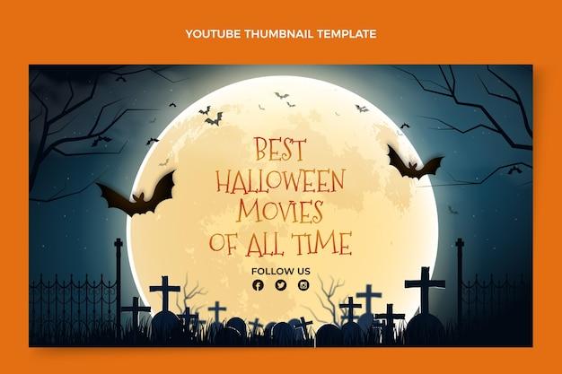 Realistisches halloween youtube thumbnail