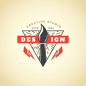 Realistisches handgezeichnetes grafikdesignerlogo