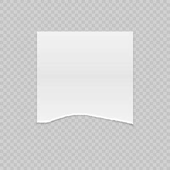 Realistisches heftiges papier mit zerrissenen rändern