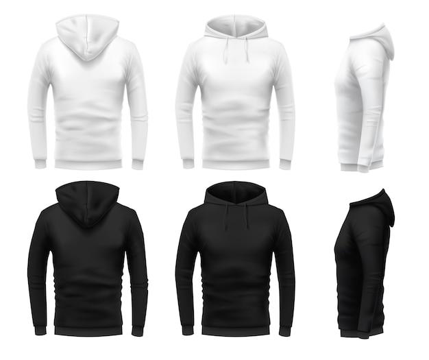 Realistisches hoodie-modell