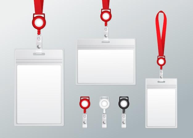 Realistisches id-karten-briefpapier-set
