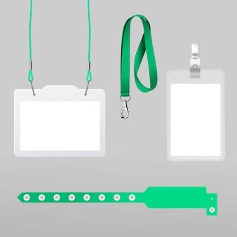 Realistisches id-karten-briefpapierkonzept Kostenlosen Vektoren