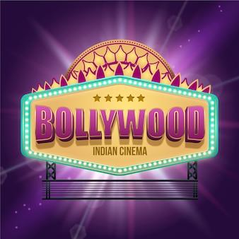 Realistisches indisches bollywood-kinozeichen