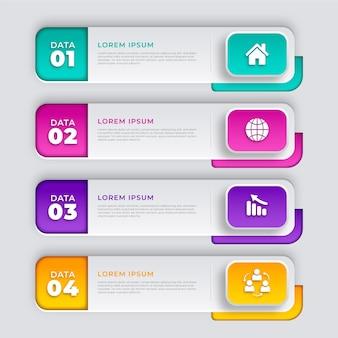 Realistisches inhaltsverzeichnis infografik