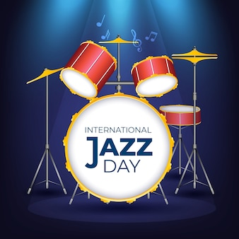 Realistisches internationales jazz-tageskonzept