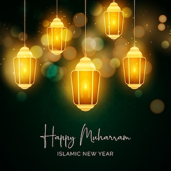 Realistisches islamisches neujahrskonzept