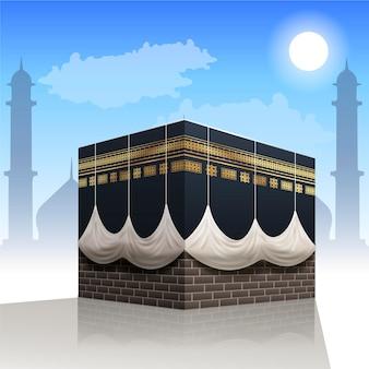 Realistisches islamisches pilgerkonzept