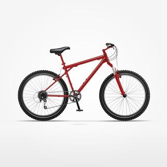 Realistisches isoliertes fahrrad