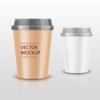 Realistisches kaffeetassenset