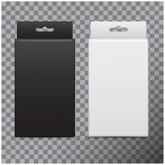 Realistisches karton-set. paket für software, elektronische geräte und andere produkte