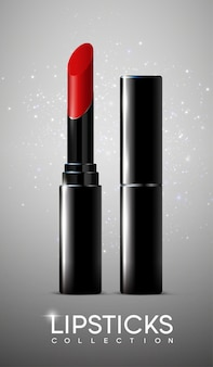 Realistisches kosmetisches make-up-plakat