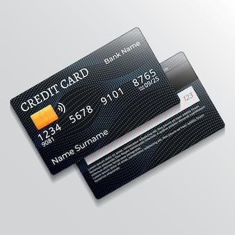 Realistisches kreditkartendesign