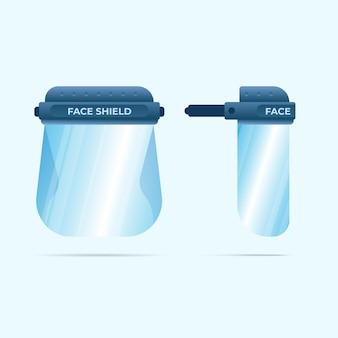 Realistisches kunststoff-gesichtsschutzkonzept