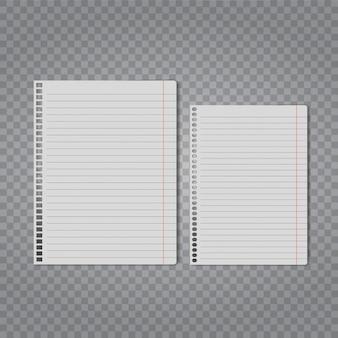 Realistisches leeres blatt papierspott oben