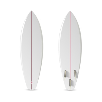 Realistisches leeres surfbrett.