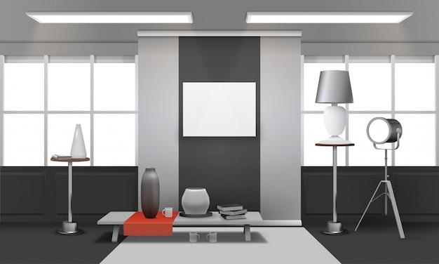 Realistisches loft-interieur