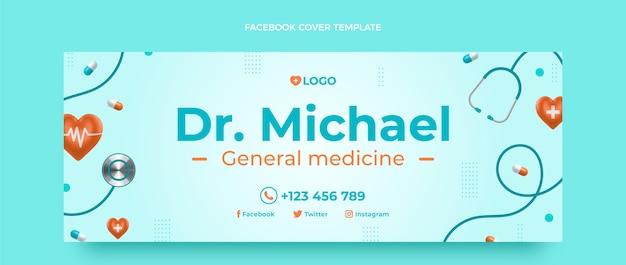 Realistisches medizinisches facebook-cover
