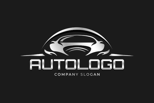 Realistisches metallisches autologo