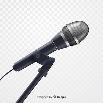 Realistisches metallisches mikrofon zum singen