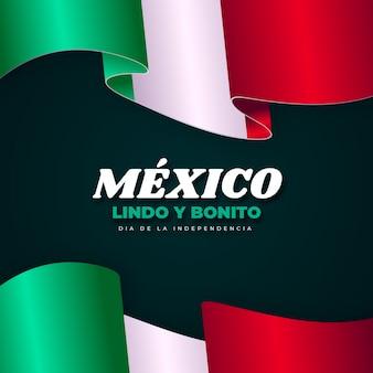 Realistisches mexikanisches unabhängigkeitstagkonzept