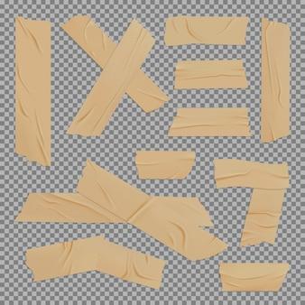 Realistisches modell des braunen klebebandes