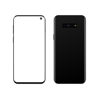 Realistisches modernes smartphone. vektor..