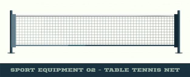 Realistisches netz für tischtennis-tischtennisvektor