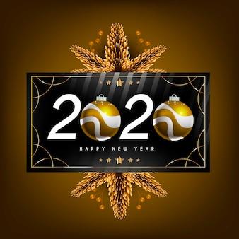 Realistisches neues jahr 2020