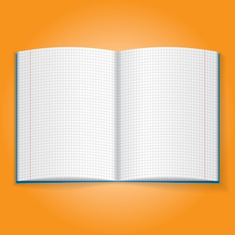 Realistisches objekt-symbol. schulübung notizbuch illustration