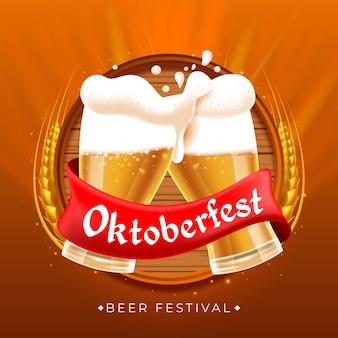 Realistisches oktoberfest-konzept