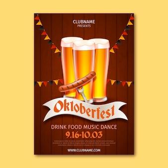 Realistisches oktoberfestplakat
