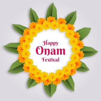 Realistisches onam-festival-thema