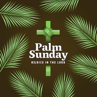 Realistisches palmensonntagsereignis