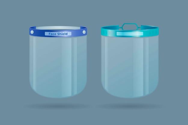 Realistisches plastikgesichtsschutzset