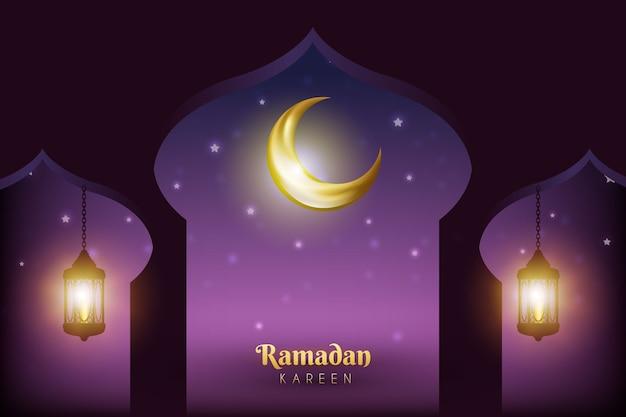 Realistisches ramadan-ereignis