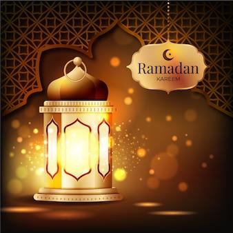 Realistisches ramadan-hintergrundkonzept