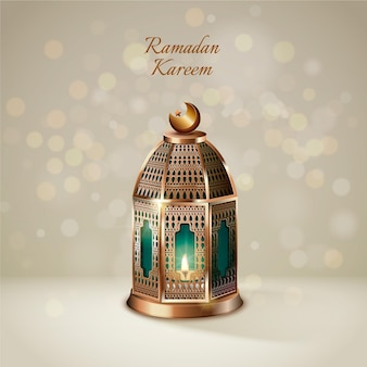 Realistisches ramadan-kareem-element