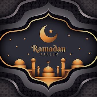 Realistisches ramadan-konzept