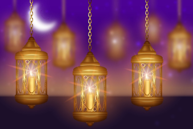 Realistisches ramadan-thema