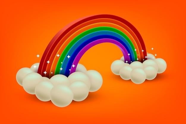 Realistisches regenbogenkonzept