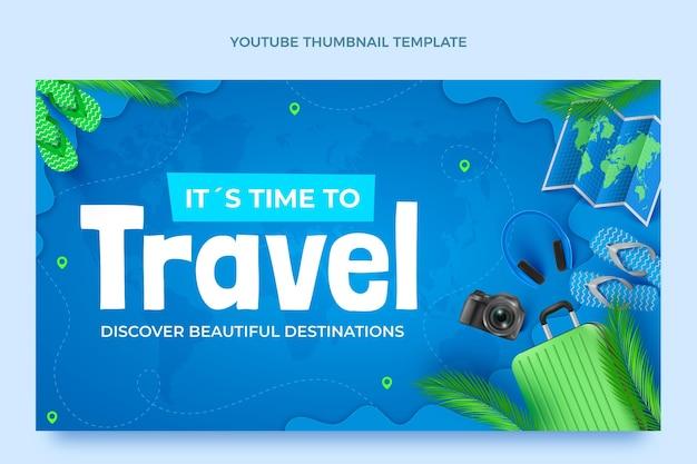 Realistisches reise-youtube-thumbnail