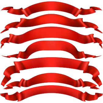 Realistisches rotes dekoratives band.