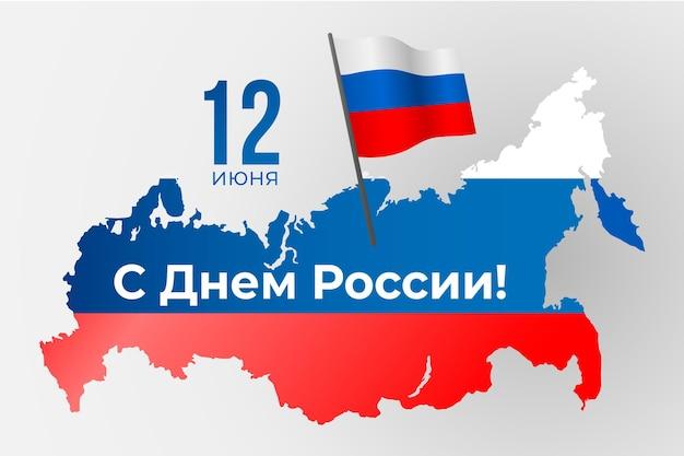 Realistisches russland-tagesereignis