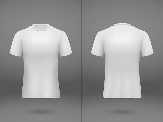 Realistisches schablonenfußball-jerseyt-shirt auf shop