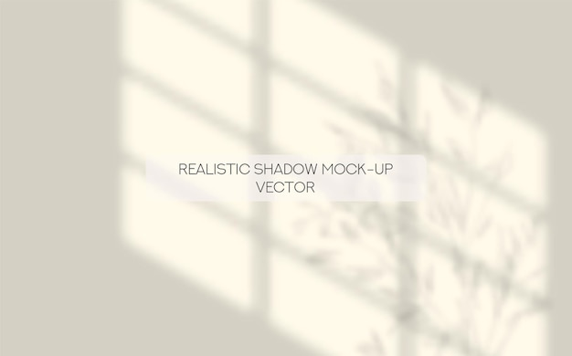 Realistisches schattenfenster und hinterlässt ein modell für social media-präsentationsdesign mit realistischen schatten shadow
