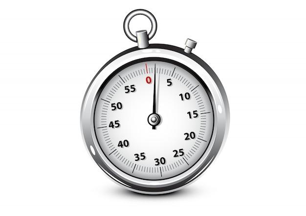 Realistisches silberchronometer